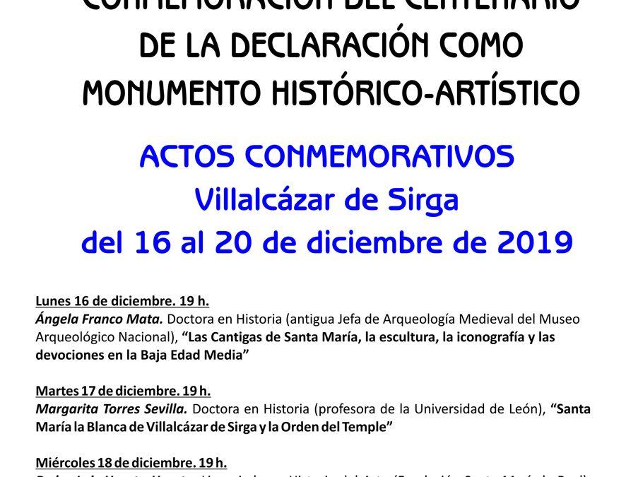 Santa María la Blanca 1919-2019